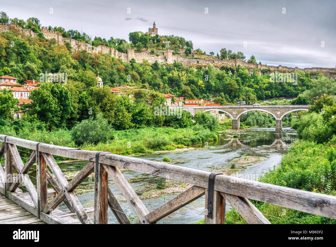 Fortress Tsarevets in Veliko Tarnovo (Bulgaria) Stock Photo