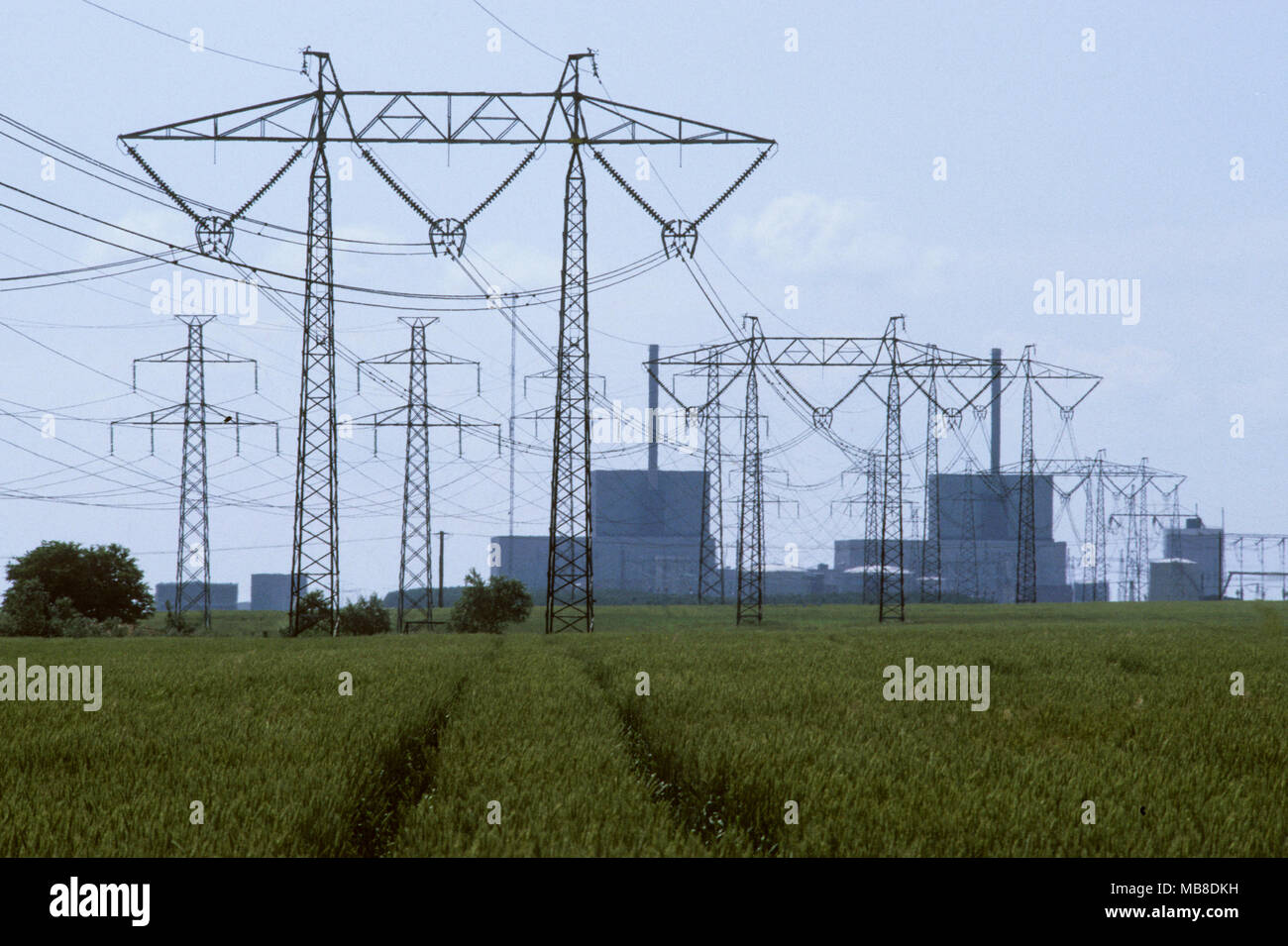 Barsebäck nuclear power plant in Skåne Sweden, 20 km from Danish capital Copenhagen was pressed by  Danish government to closed down,wich is the facts - Stock Image