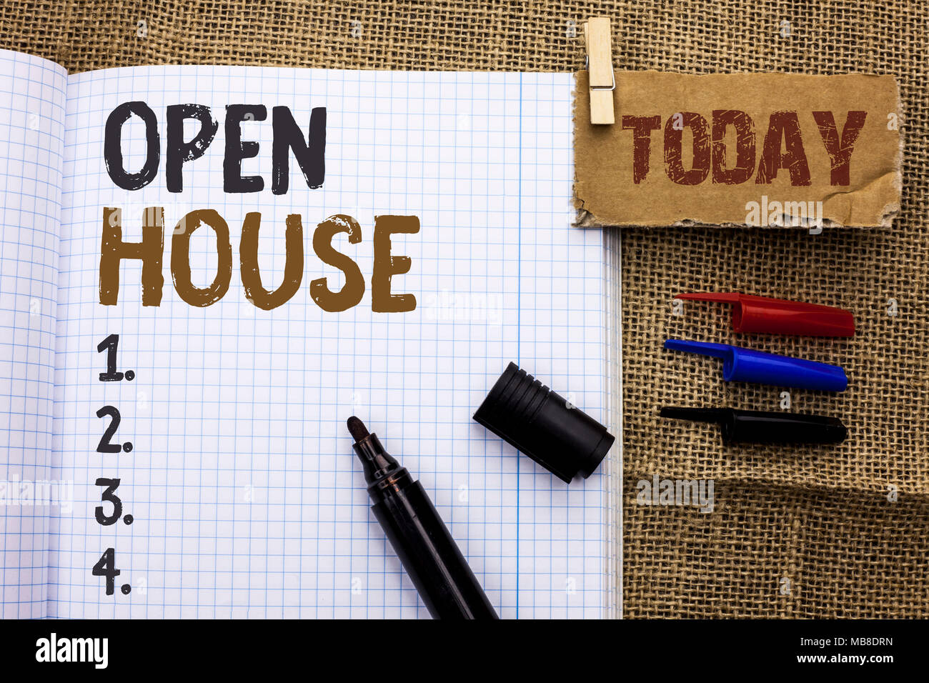 Text Sign Showing Open House Conceptual Photo Home Property