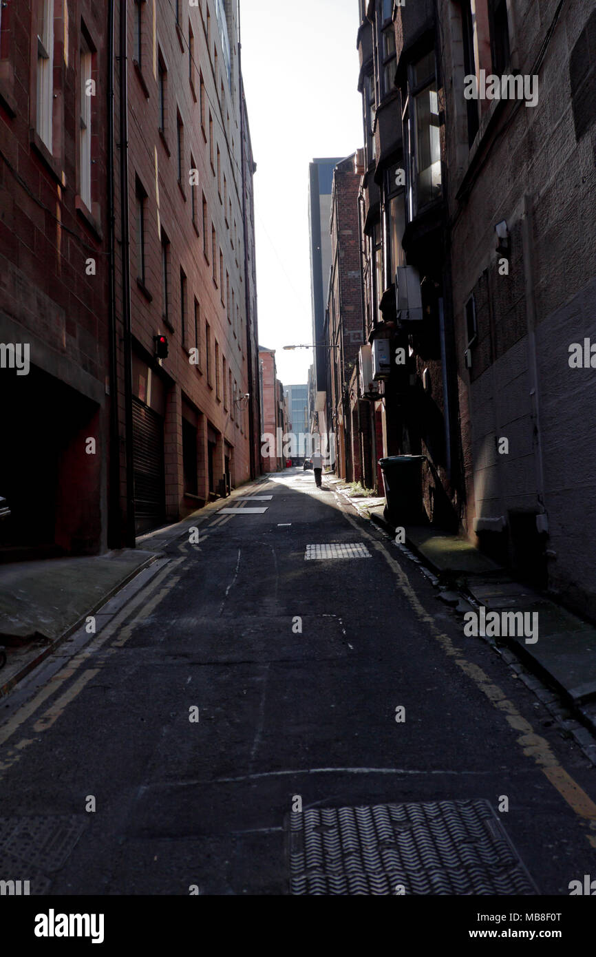 Glasgow City Streets, lanes and Buildings 2 - Stock Image