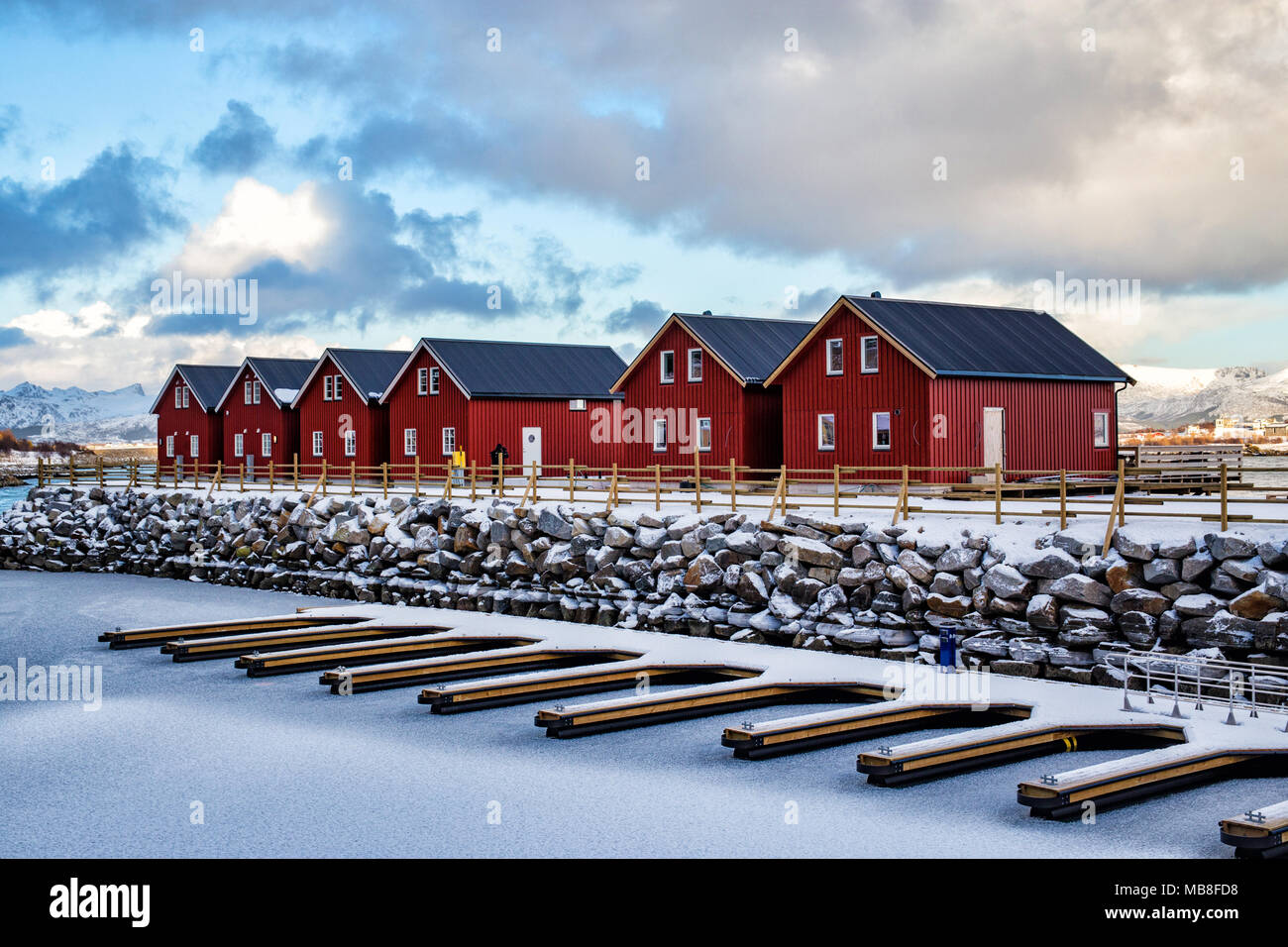 Lofoten Islands, Norway, 03-11-2018, village - Stock Image