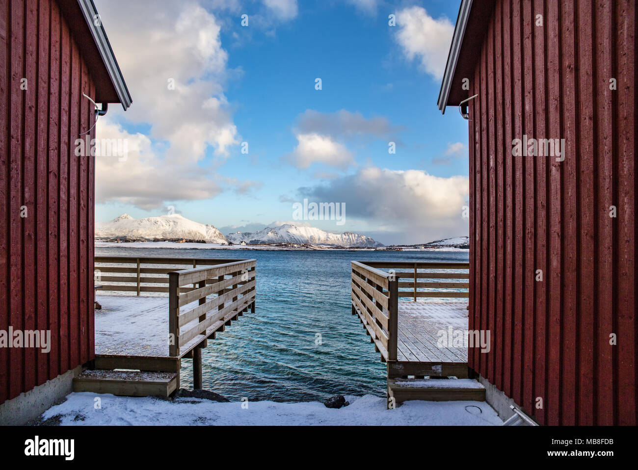 Lofoten Islands, Norway, 03-11-2018, village - Stock Image