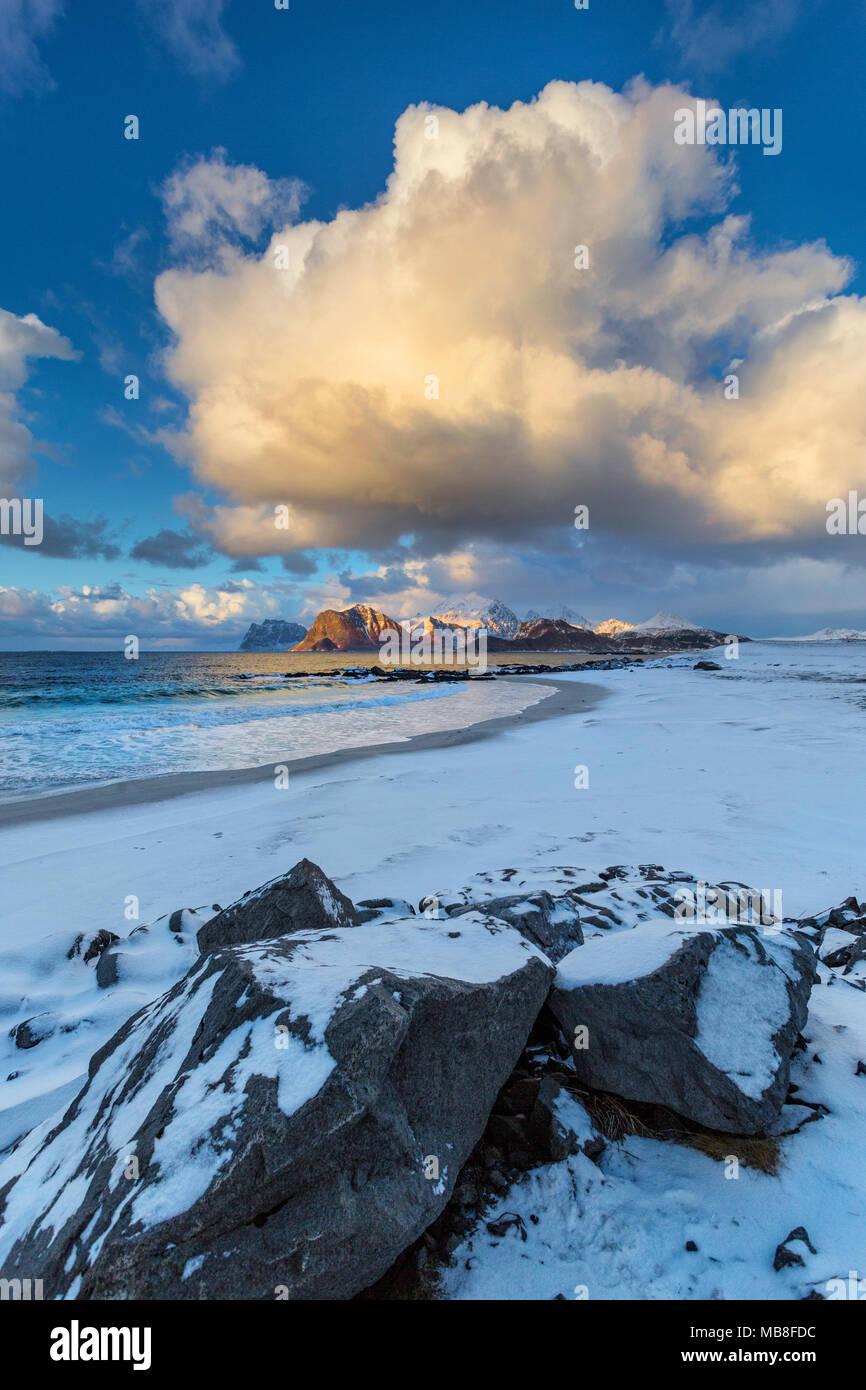 Lofoten Islands, Norway, 03-11-2018, seaside, fjord - Stock Image