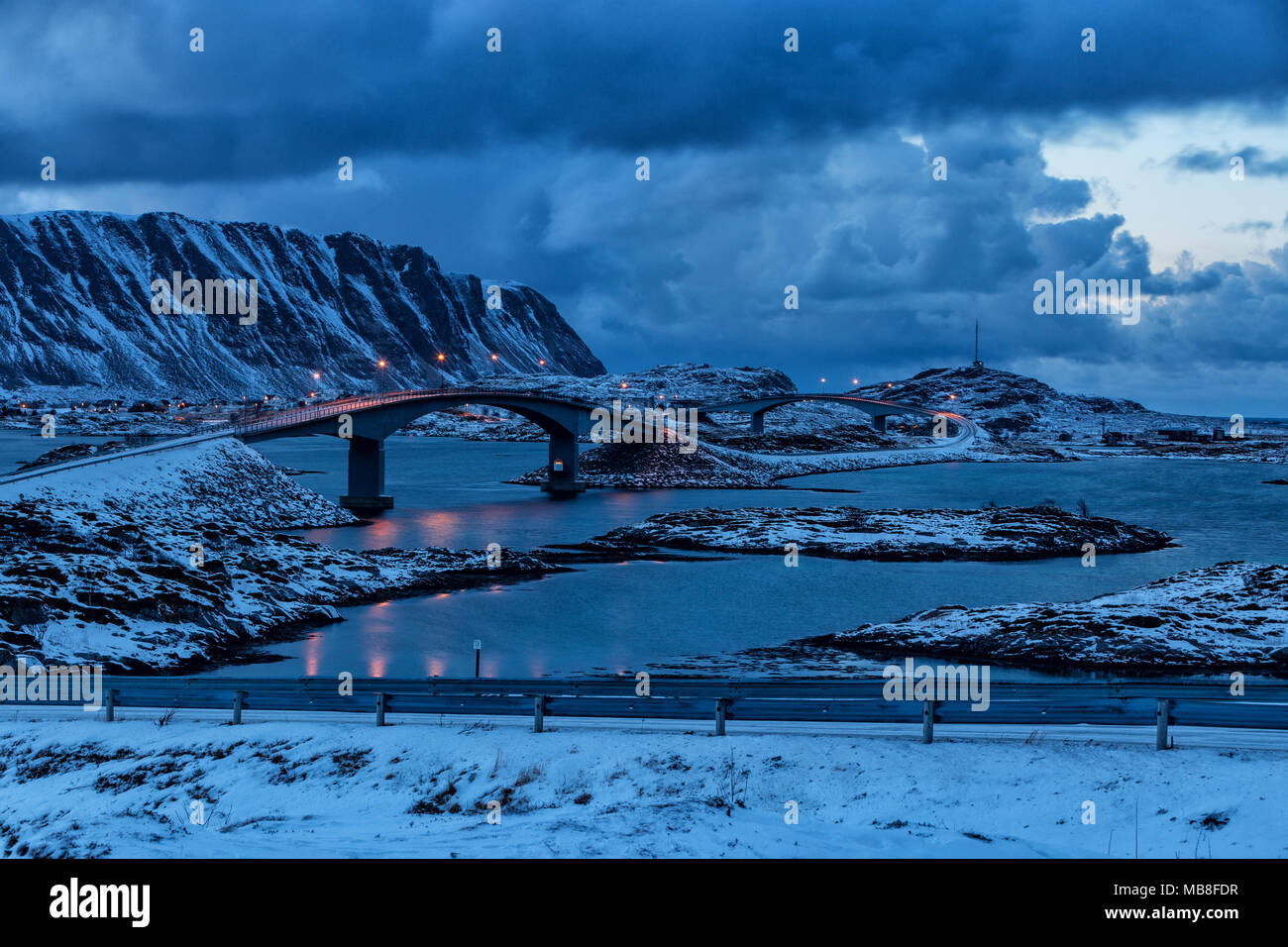 Lofoten Islands, Norway, 03-11-2018, seaside, fjord - Stock Image