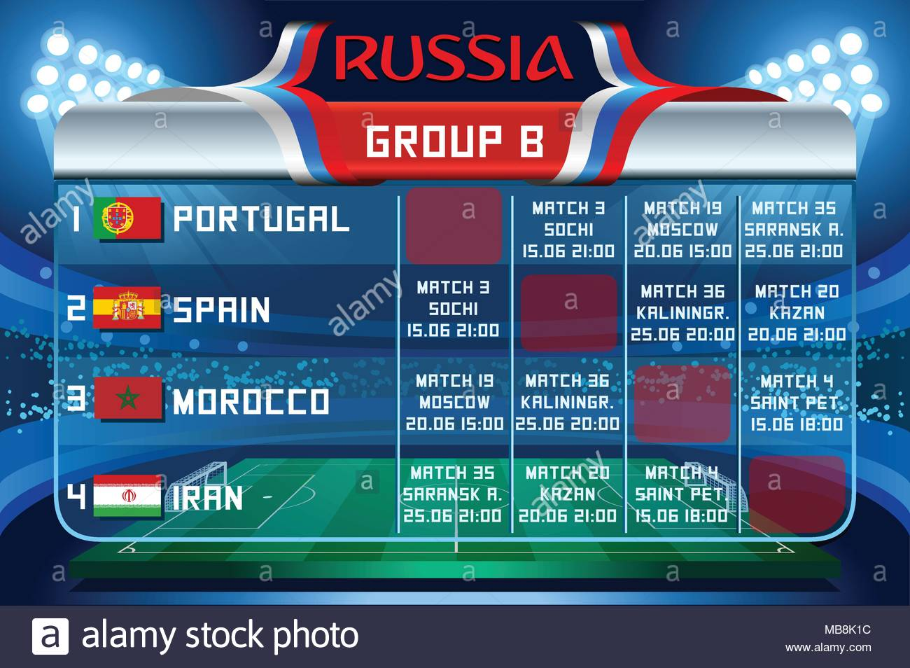world cup fixture