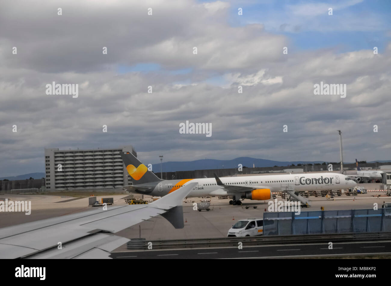 Germany, The Frankfurt airport - Stock Image