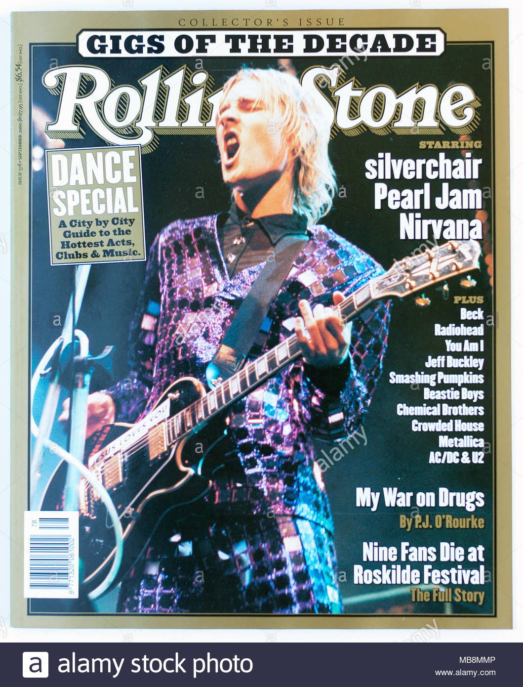 The cover of Rolling Stone magazine, issue 578, Silverchair - Stock Image