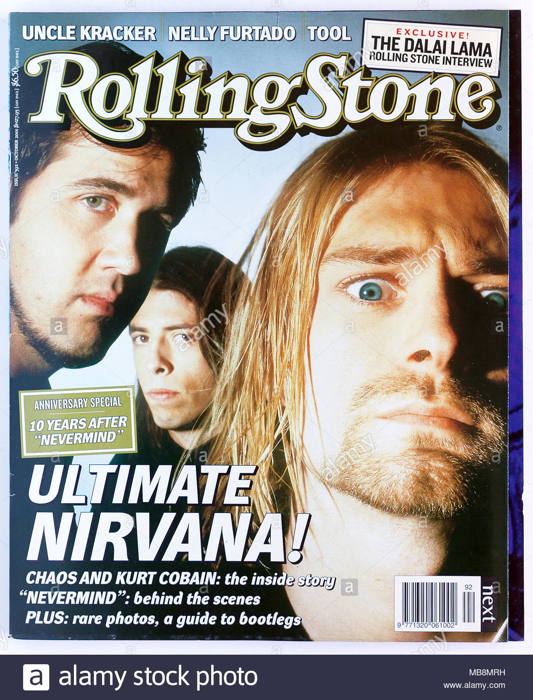 The cover of Rolling Stone magazine, issue 592, Nirvana Stock Photo