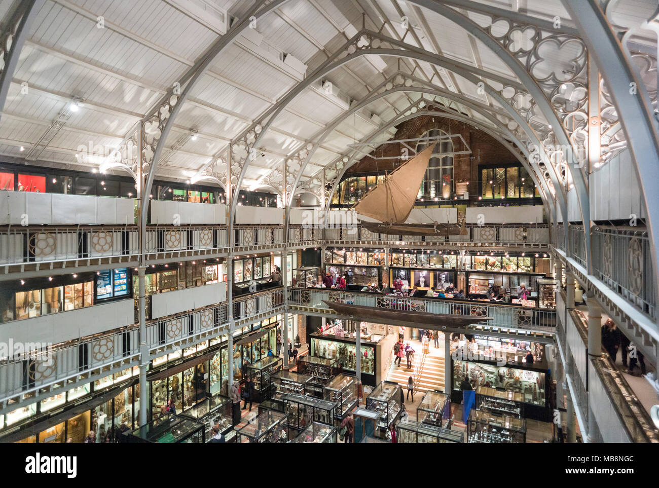 Oxford. England. Interior of the Pitt Rivers Museum, with archaeological and ethnographic objects from all over the world, founded in 1884. - Stock Image