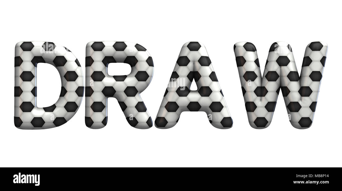 Draw word made from a football soccer ball texture  3D