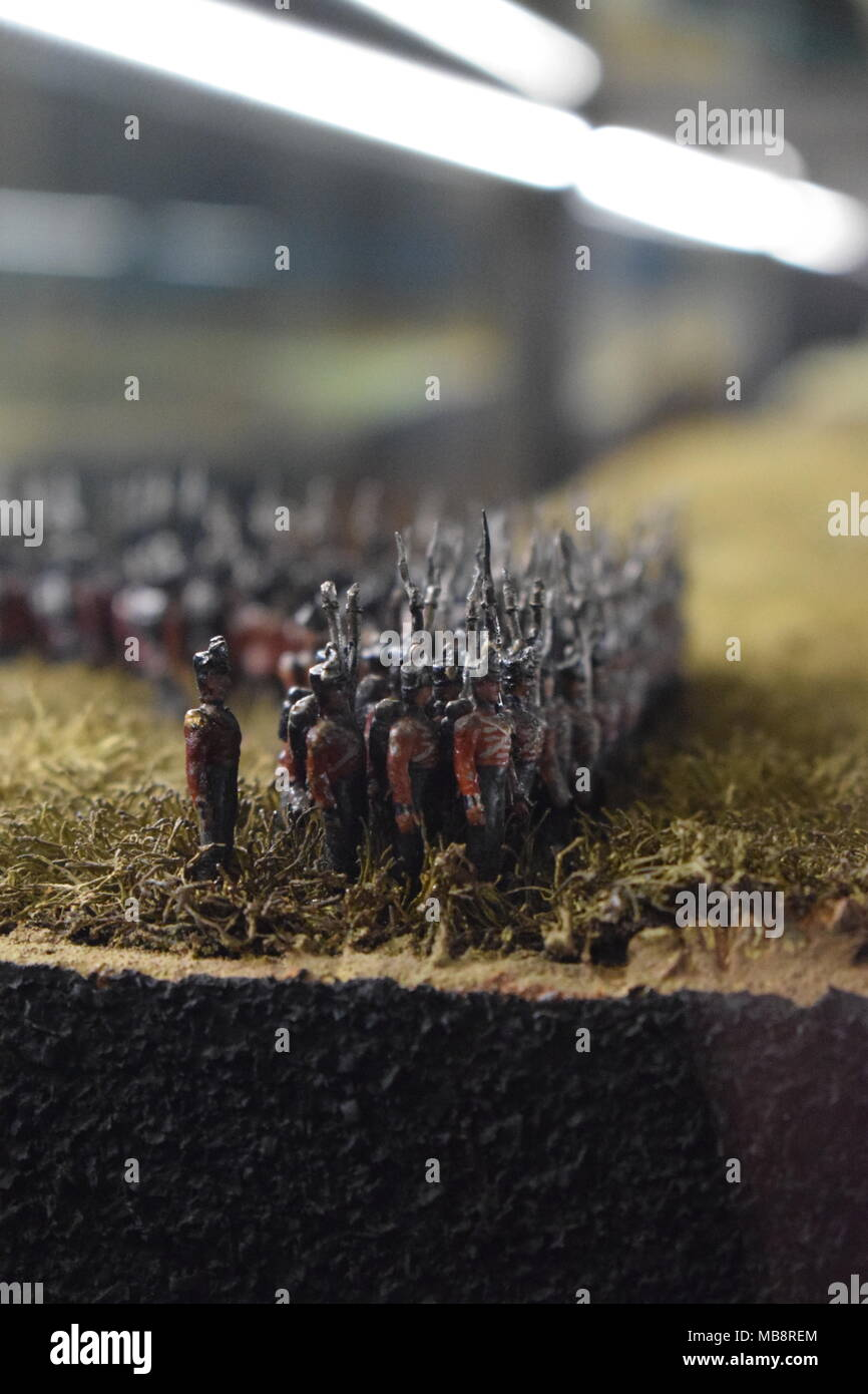 The Royal Armouries Waterloo display case - Stock Image