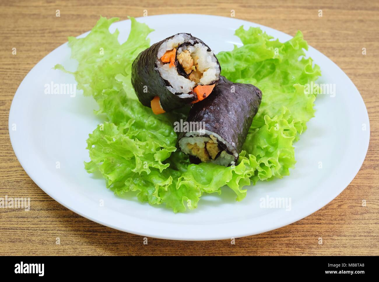 Green stuff with sushi