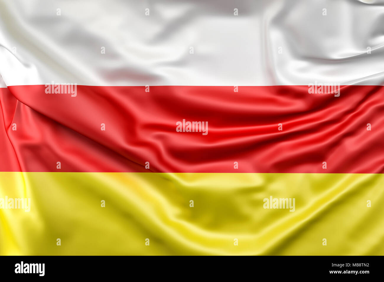 Flag of South Ossetia - Stock Image