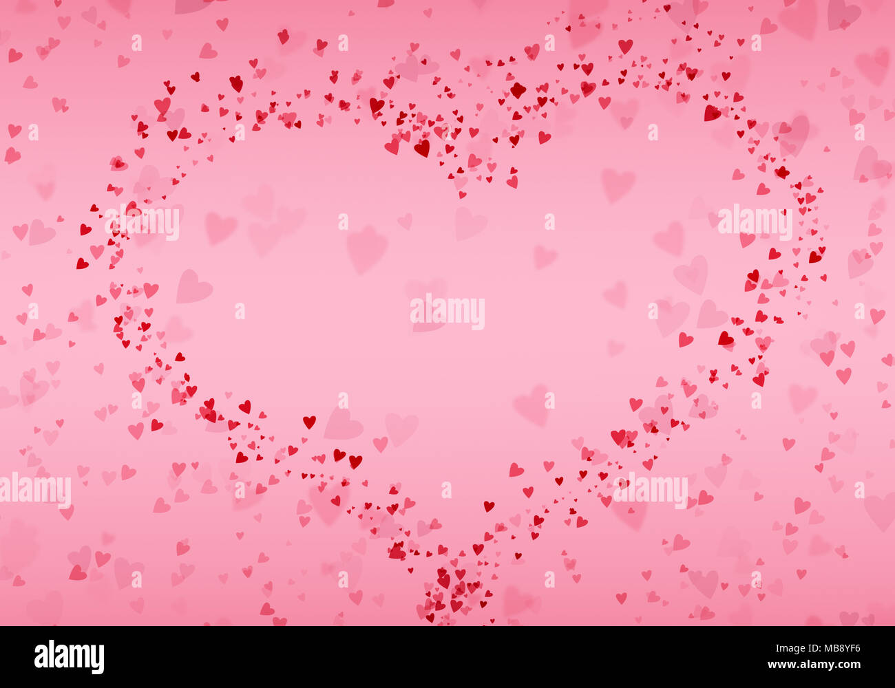happy valentines day vintage background illustration with glitter in shape of big heart wallpaper gift card poster flyer MB8YF6