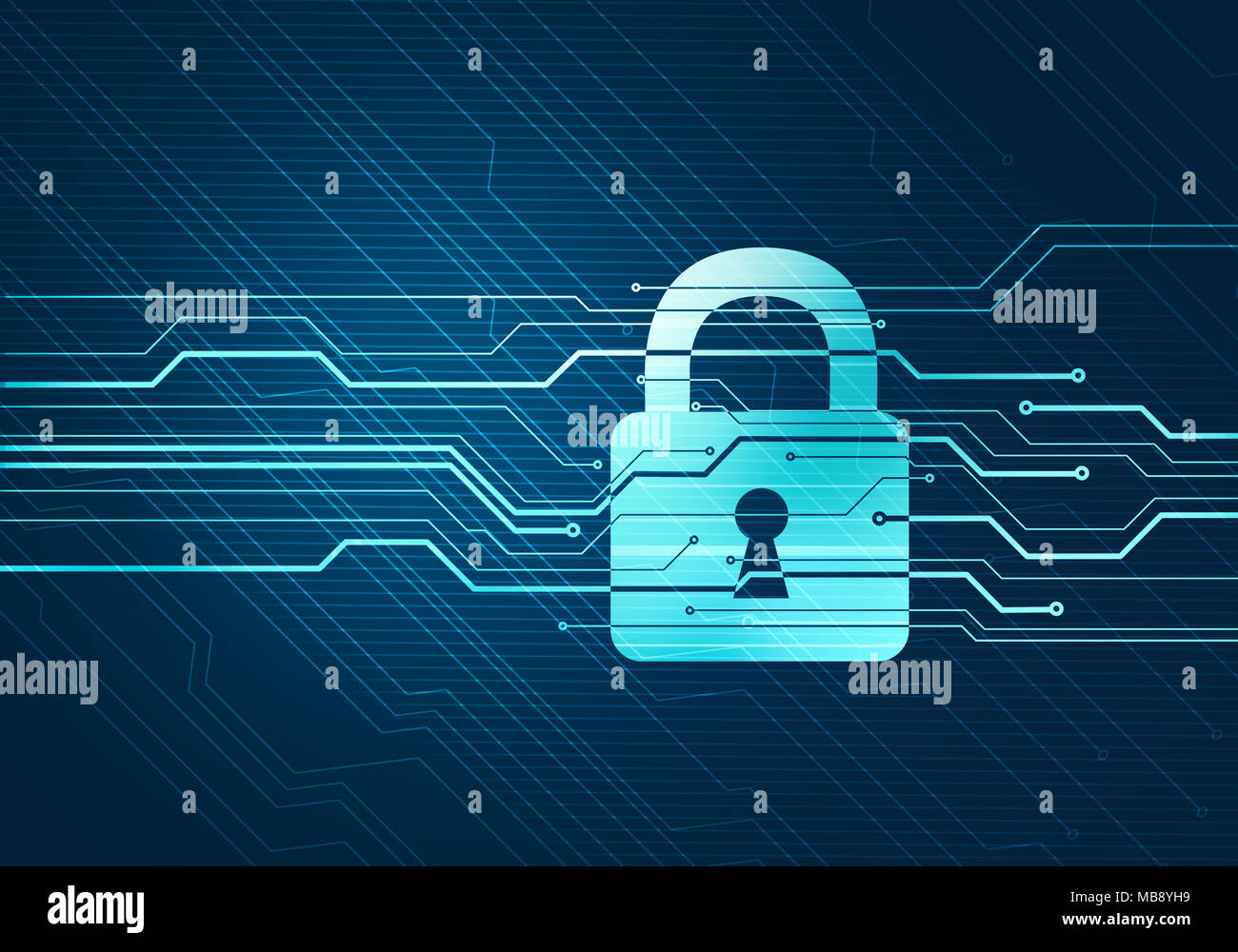 abstract digital concept of internet data security and safety with