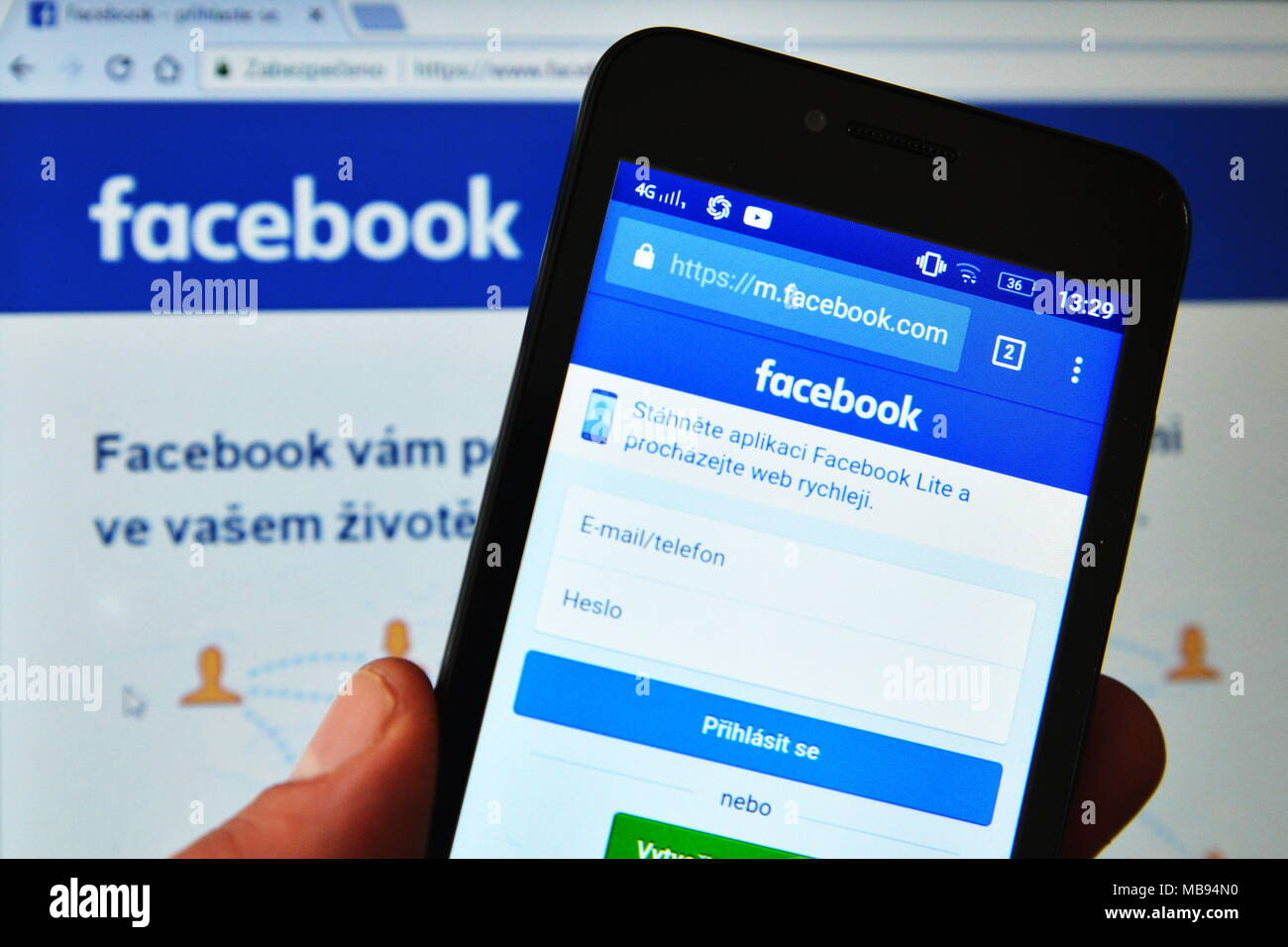 Mobile facebook login Facebook external