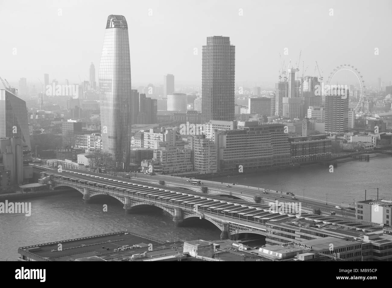 One Blackfrairs and surrounding building, as seen from St. Paul's Cathedral. - Stock Image