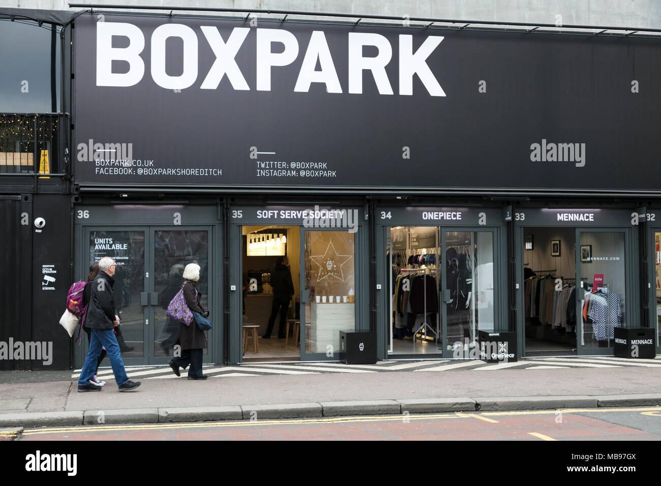 513c28cf241c9 Box Park, Bethnal Green Road, Shoreditch, London Stock Photo ...
