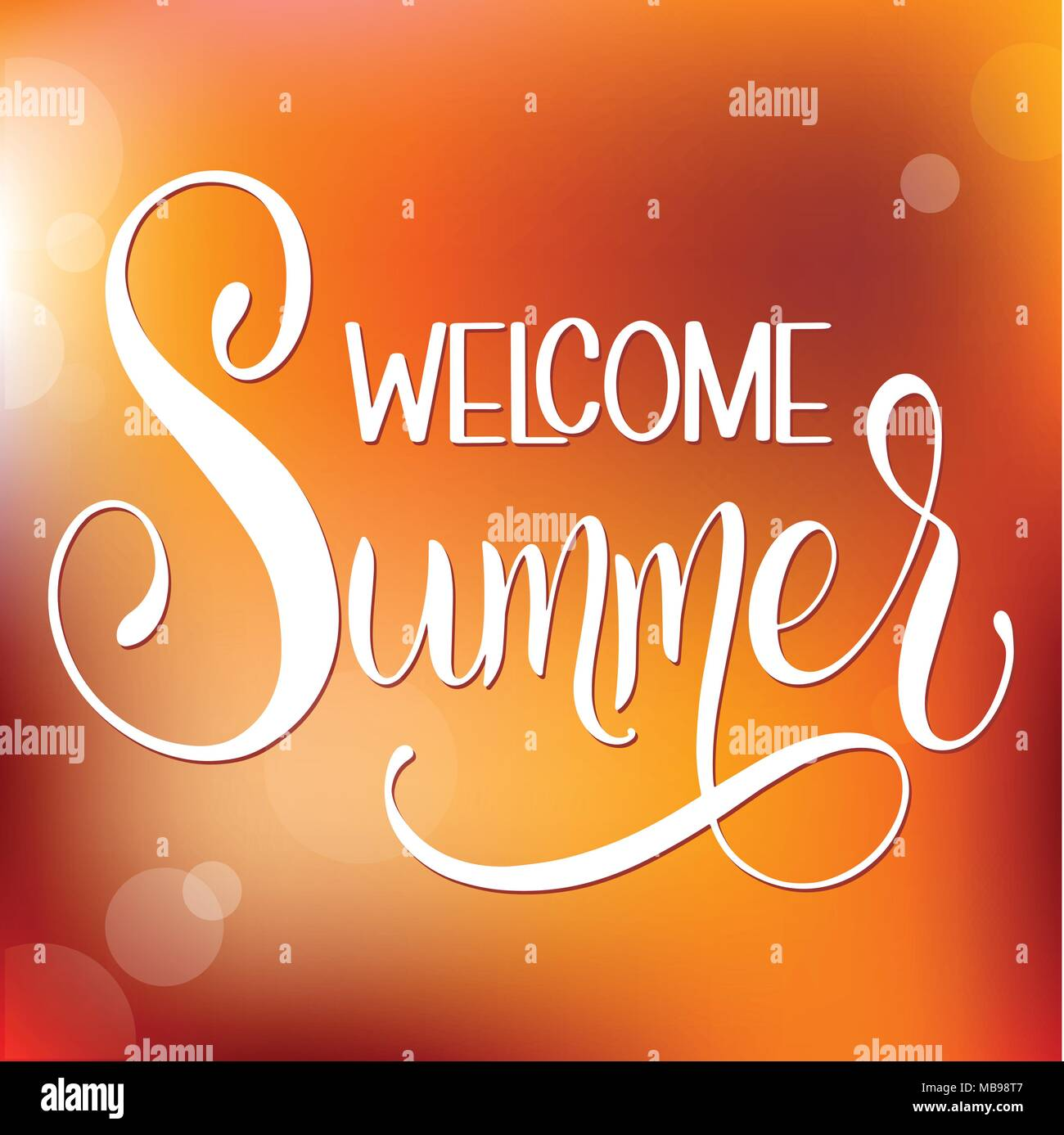 Welcome Summer Lettering Elements For Invitations Posters