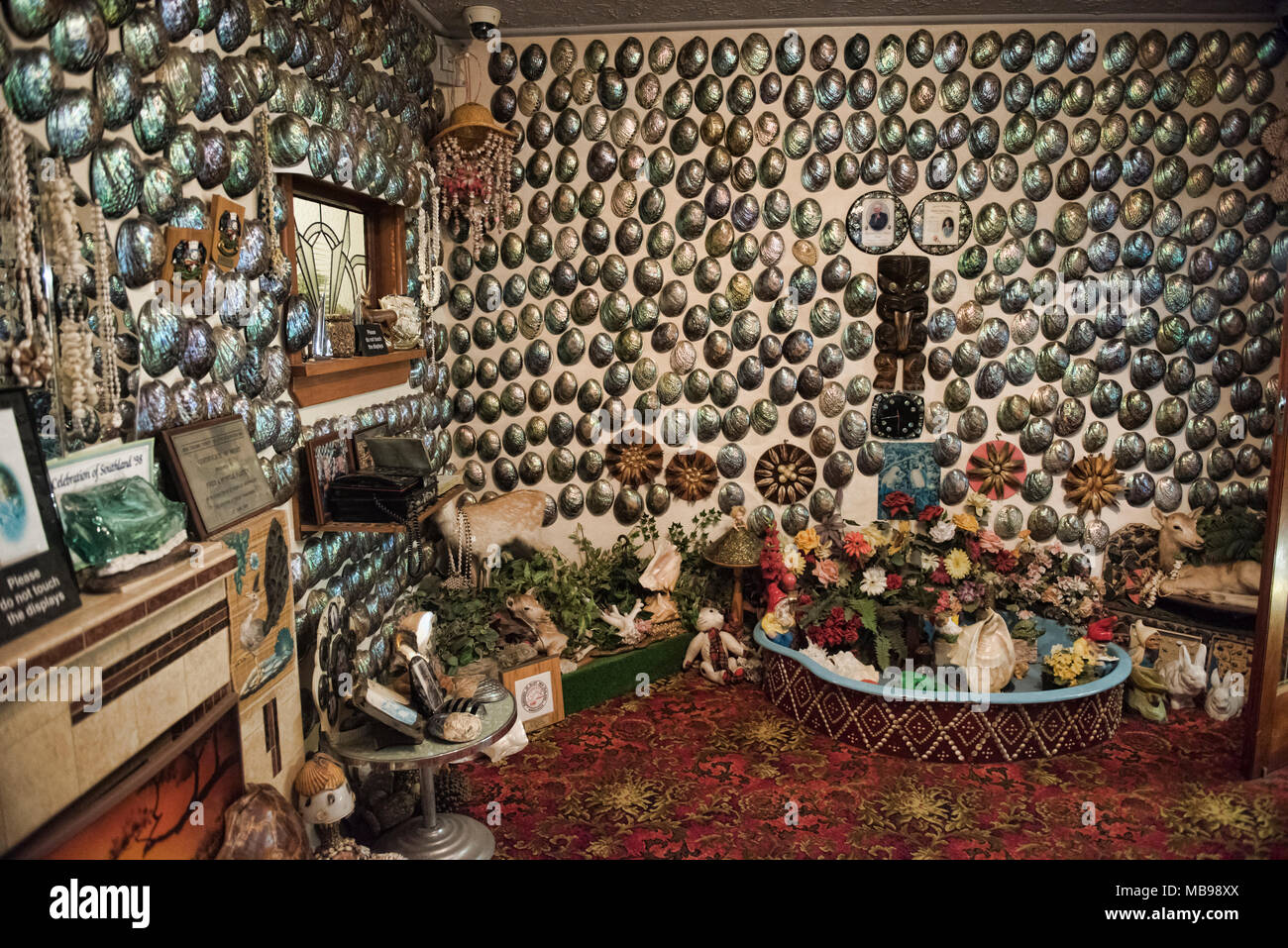 Fred and Myrtle Flutey's Paua Shell House, Canterbury Museum, Christchurch, New Zealand - Stock Image