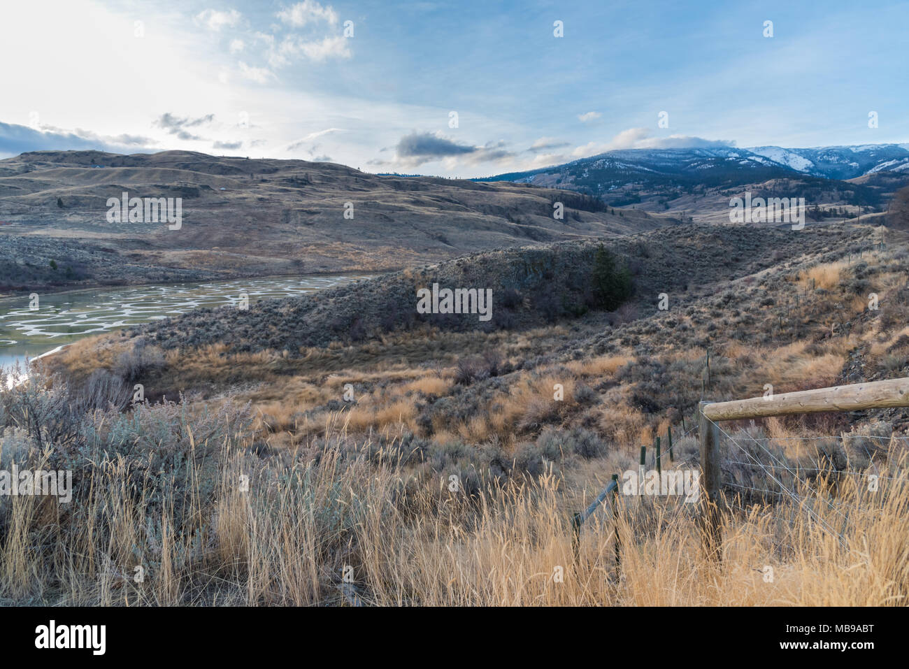 Osoyoos, British Columbia/Canada - Spotted Lake is a sacred site revered as a place of healing by the Okanagan Nation Stock Photo