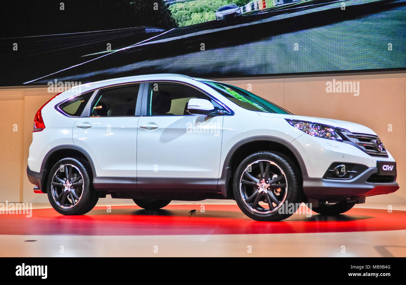 Russia, Moscow, Expocentre, 29 August - 9 September 2012: Honda CRV at 4th Moscow International Automobile Salon (MIAS 2012) - Stock Image