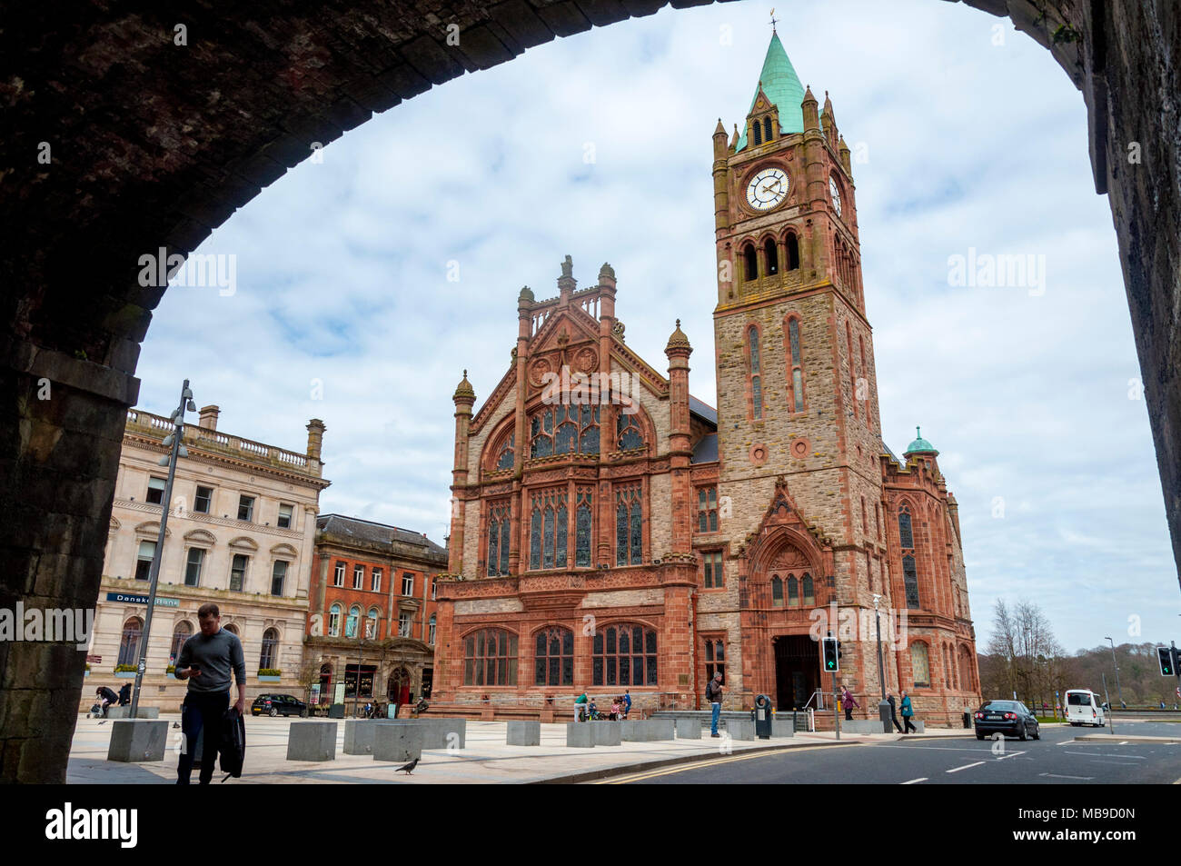 The Guildhall, Londonderry, Derry, City of Derry, Northern Ireland, UK - Stock Image