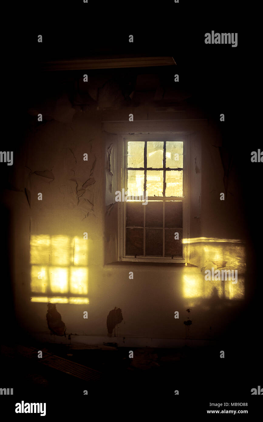 Window With Two Other Reflected Windows Of Light   Stock Image Photo