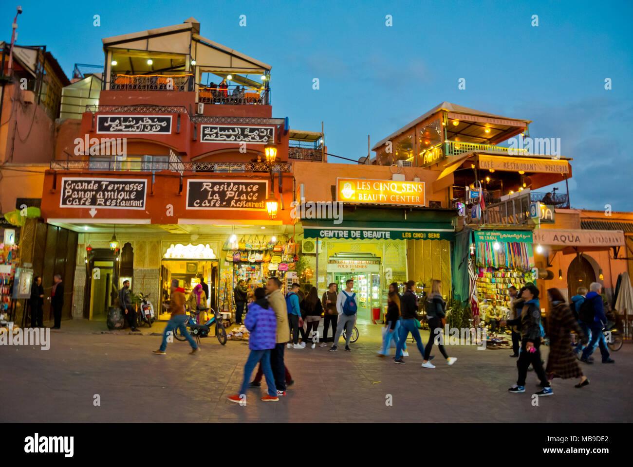 Jamaa el Fna, Marrakesh, Morocco, northern Africa Stock Photo