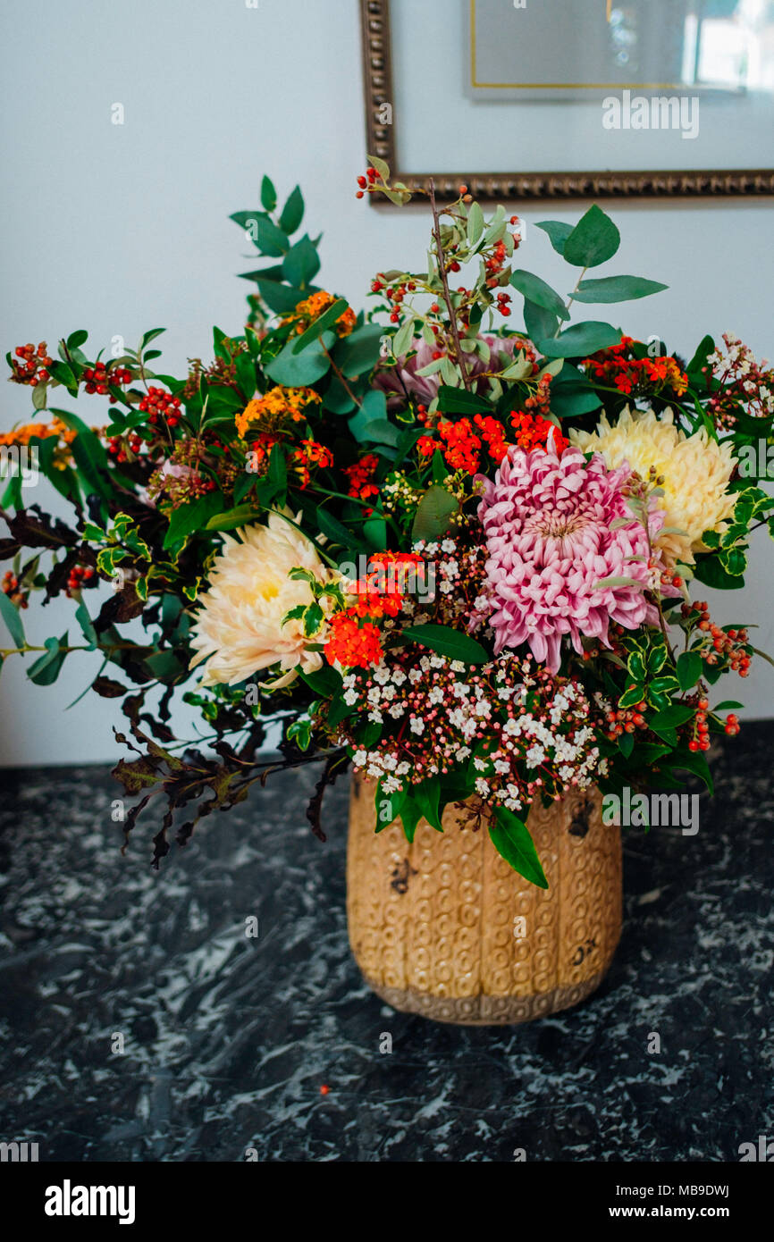 Bouquet of flowers - Stock Image