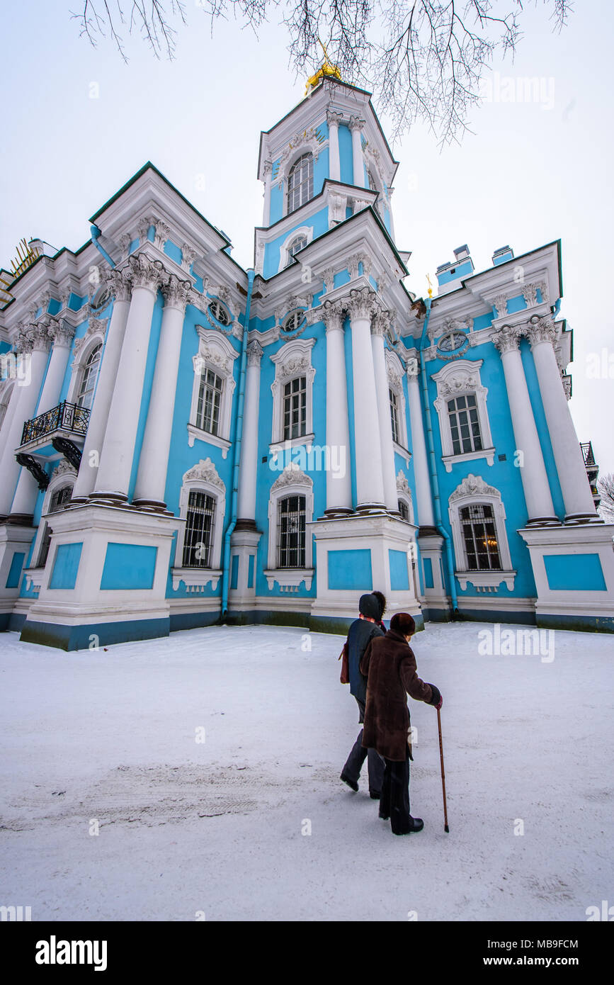 Russia, St Petersburg, St Nicholas Cathedral - Stock Image