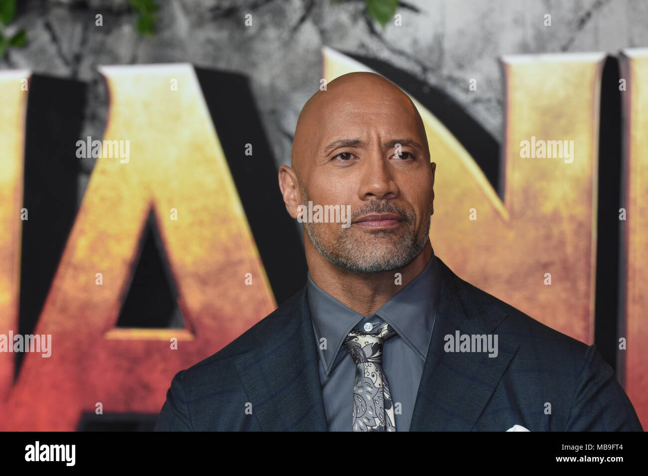 Dwayne Johnson,'Jumanji - Welcome to the Jungle' UK Premiere,Vue West End,London.UK - Stock Image