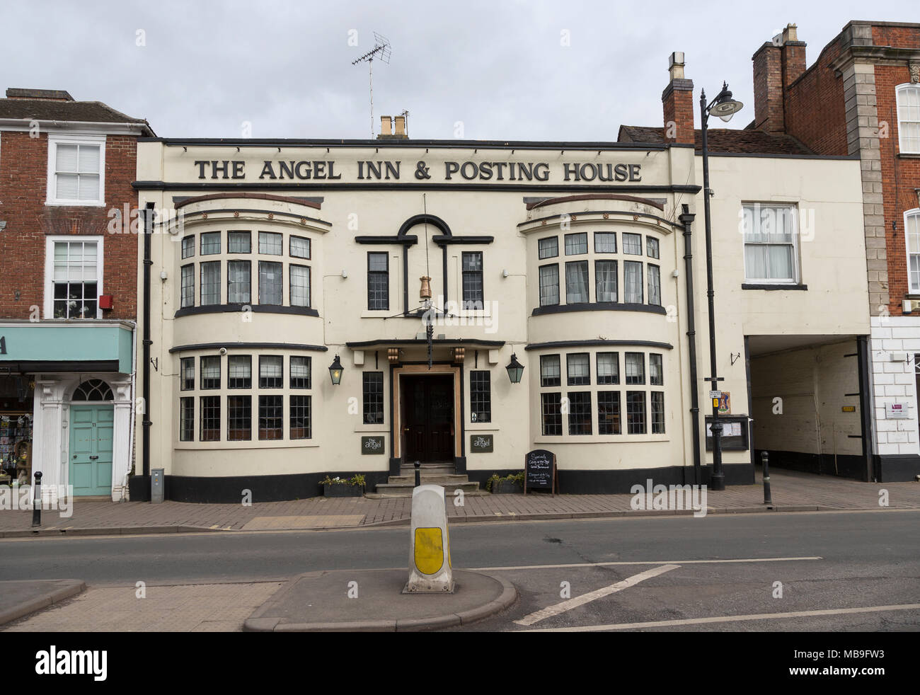 The Angel Inn and Posting House, Pershore, Worcestershire, England, UK - Stock Image