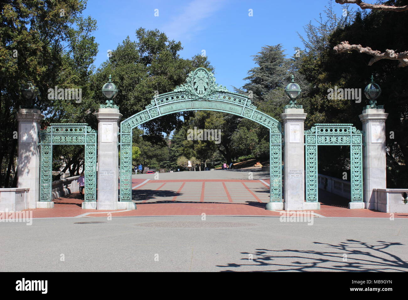 Sather Gate, University of California, Berkeley - Stock Image