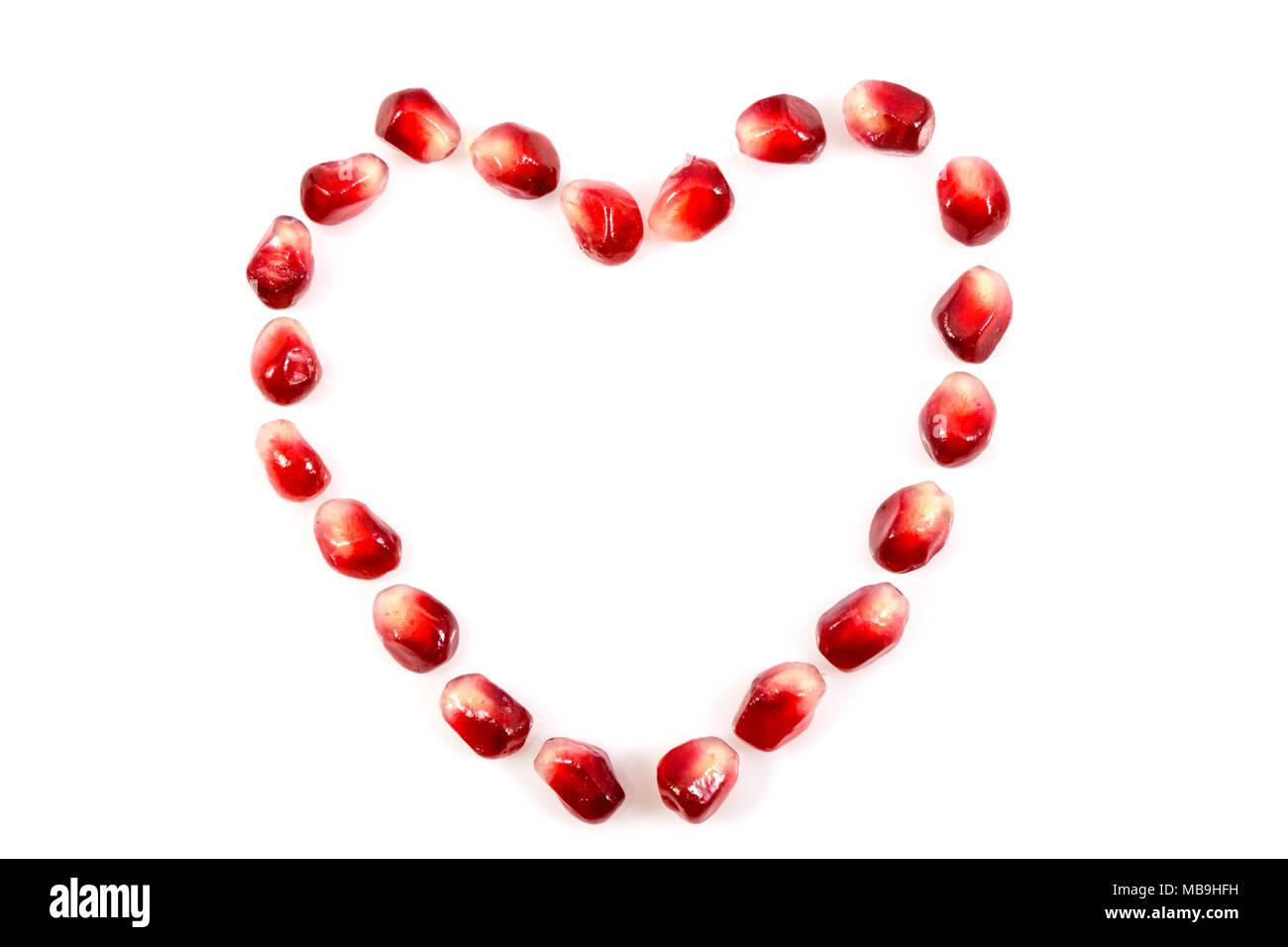 Symbol Love Pomegranate Fruit Stock Photos Symbol Love Pomegranate