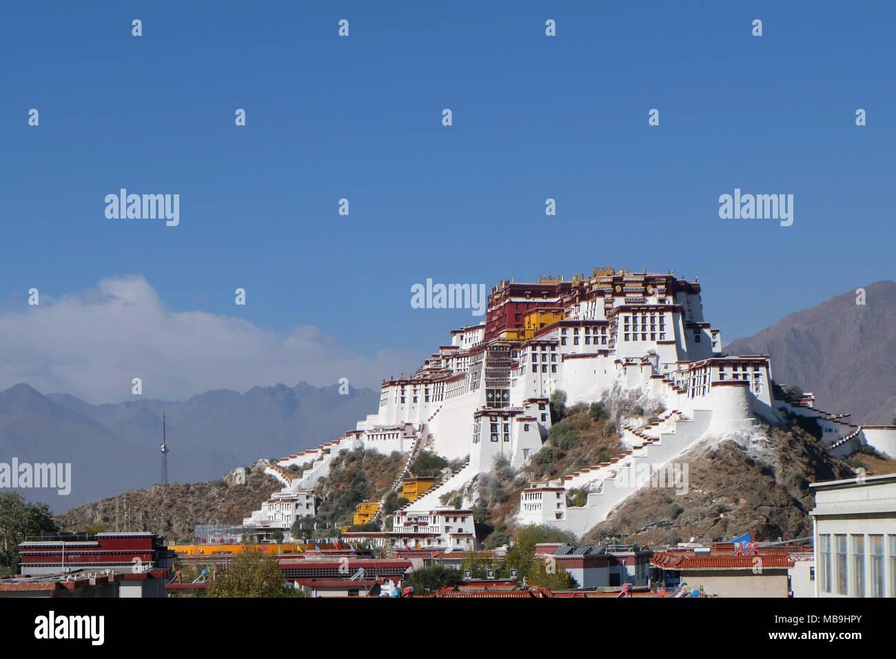 Potala Palace, Tibet, China - Stock Image