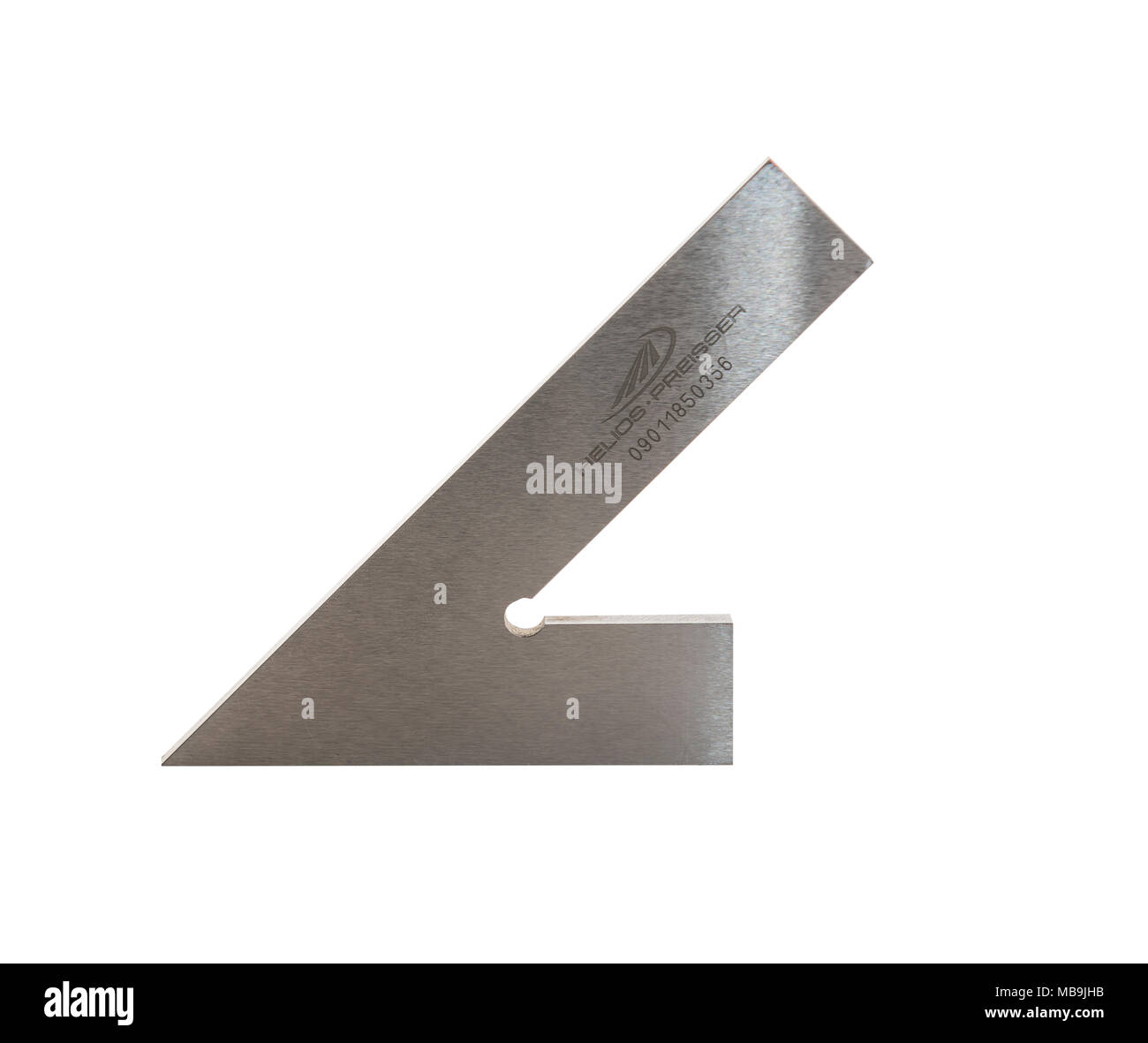 Engineers 45 degree angle  cut out - Stock Image