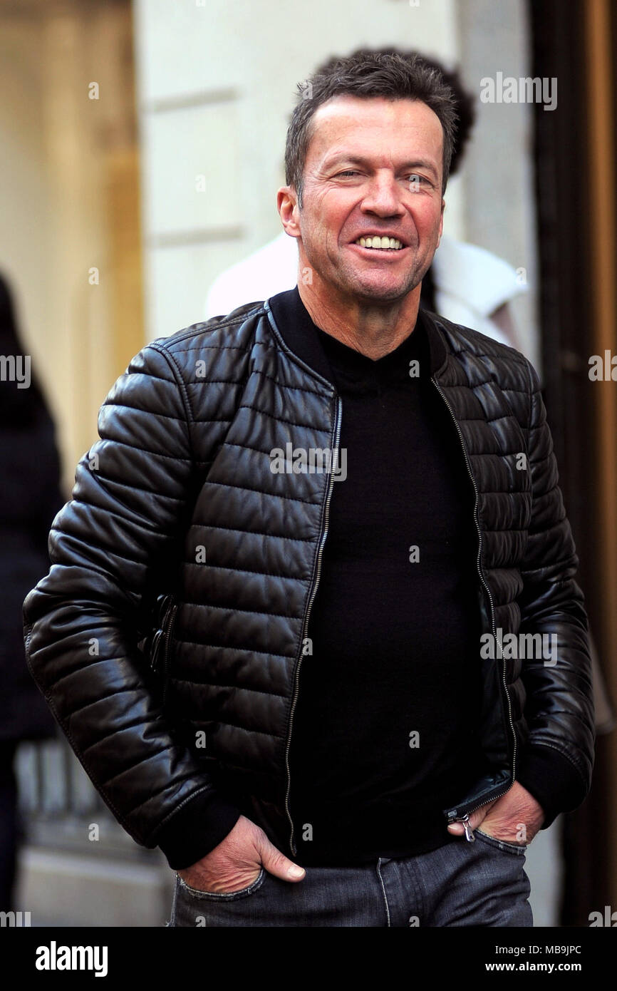 Lothar Matthäus going for lunch with a friend at Il Salumaio di Montenapoleone, a restaurant in the centre of Milan, Italy.  Featuring: Lothar Matthäus, Lothar Matthaus Where: Milan, Lombardy, Italy When: 09 Mar 2018 Credit: IPA/WENN.com  **Only available for publication in UK, USA, Germany, Austria, Switzerland** Stock Photo