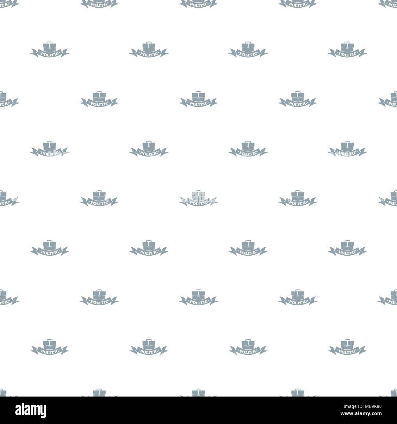 Politic pattern vector seamless - Stock Image
