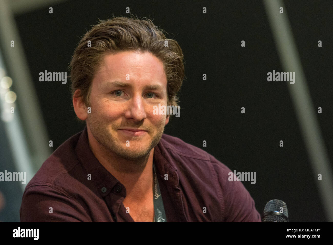 DORTMUND, GERMANY - APRIL 8: Actor Jesse Moss (Tucker & Dale vs Evil, Final Destination) at Weekend of Hell, a two day (April 7-8 2018) horror-themed fan convention. Credit: Markus Wissmann/Alamy Live News - Stock Image