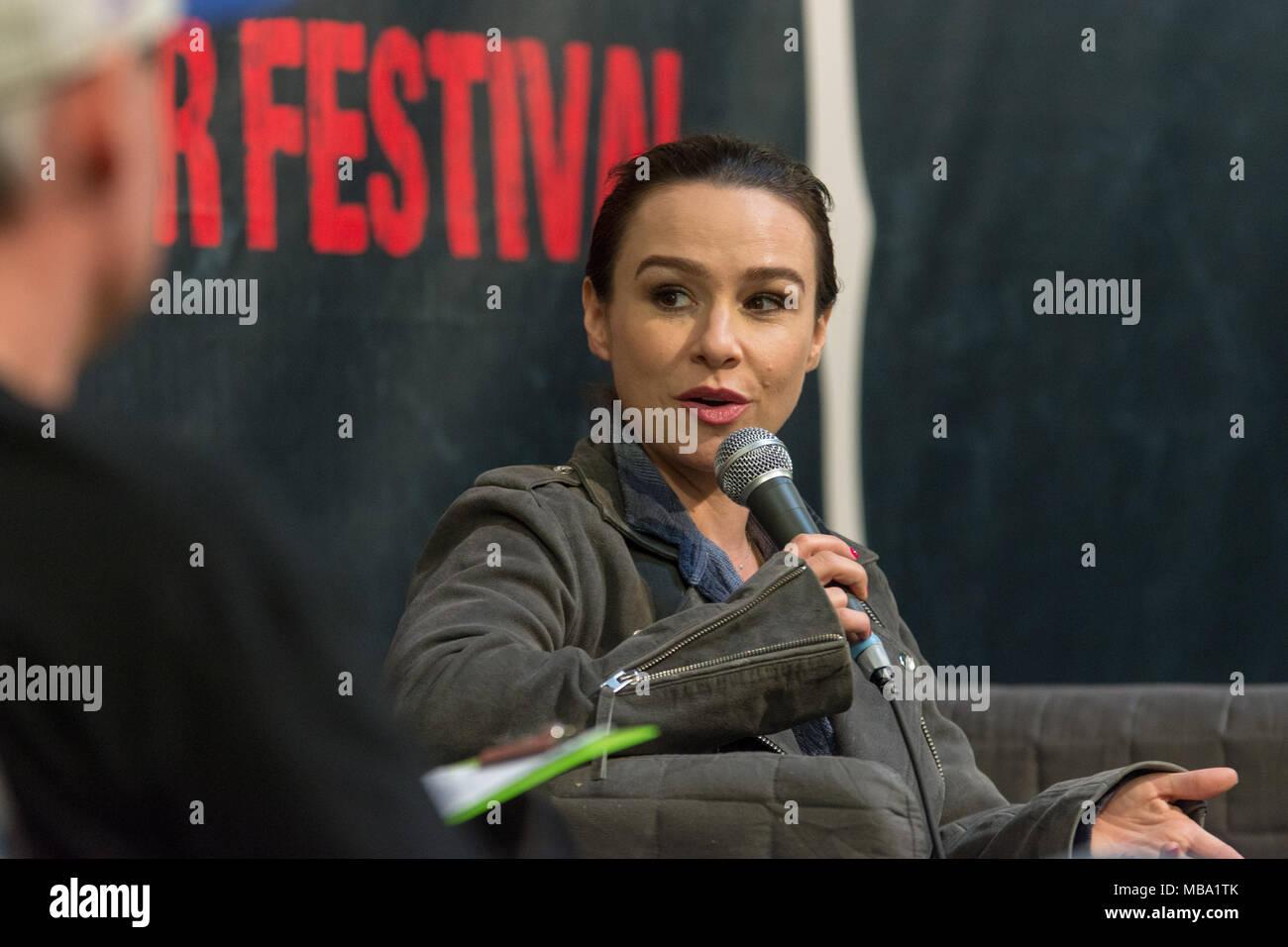 dortmund, germany - april 8: actress danielle harris (halloween