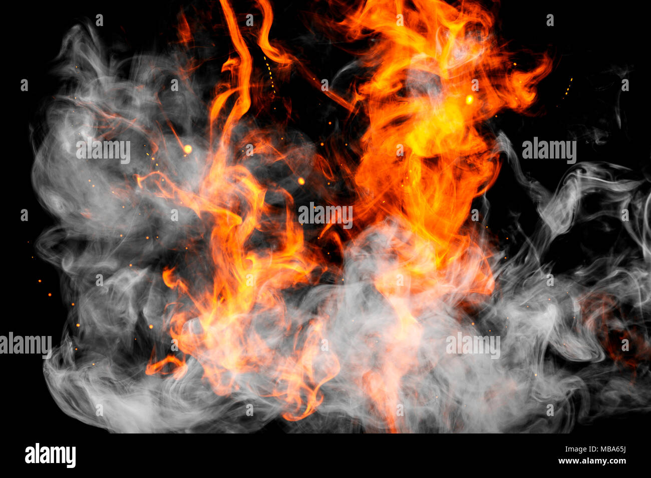 Fire Flames Background Cloud Of Fiery Smoke On A Black Isolated Background Background From The Smoke Of Vape Stock Photo Alamy