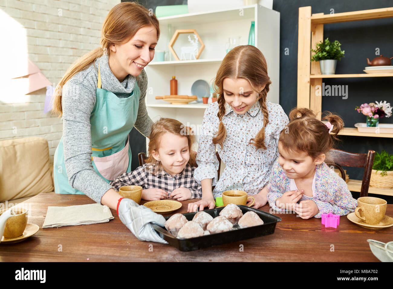 Gathered Together for Tea Party - Stock Image