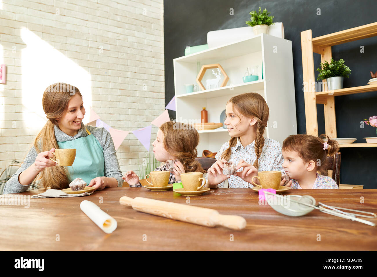 Enjoying Sunny Day at Home - Stock Image