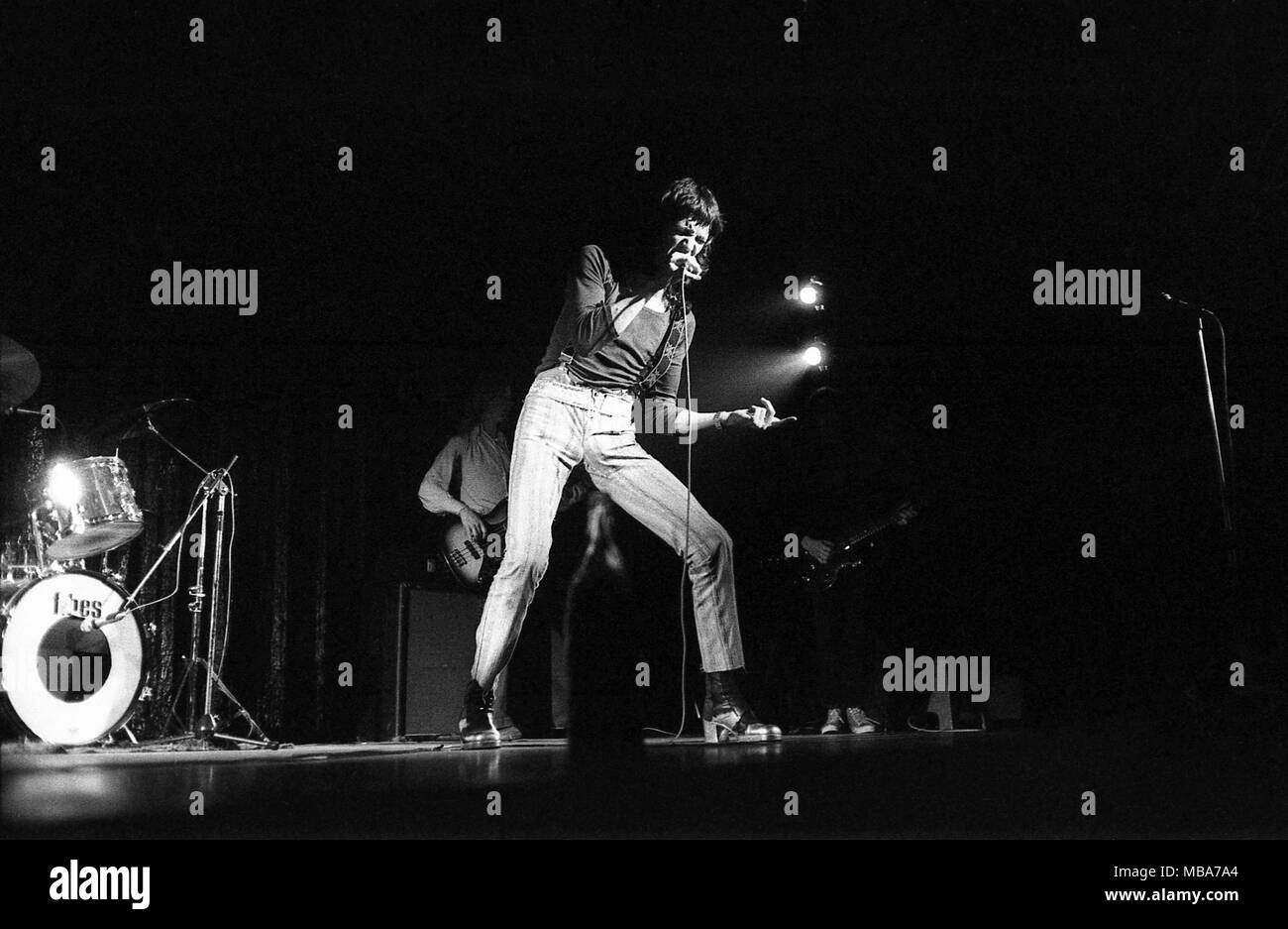 Philippe Gras / Le Pictorium -  Jacques Higelin -  1975  -  France / Ile-de-France (region) / Paris  -  Jacques Higelin, Concert at Olympia, 1975 - Stock Image
