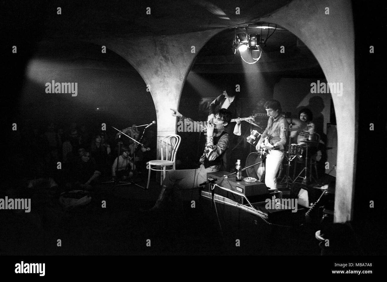 Philippe Gras / Le Pictorium -  Jacques Higelin -  1977  -  France / Ile-de-France (region) / Paris  -  Jacques Higelin, Concert in 1977 - Stock Image