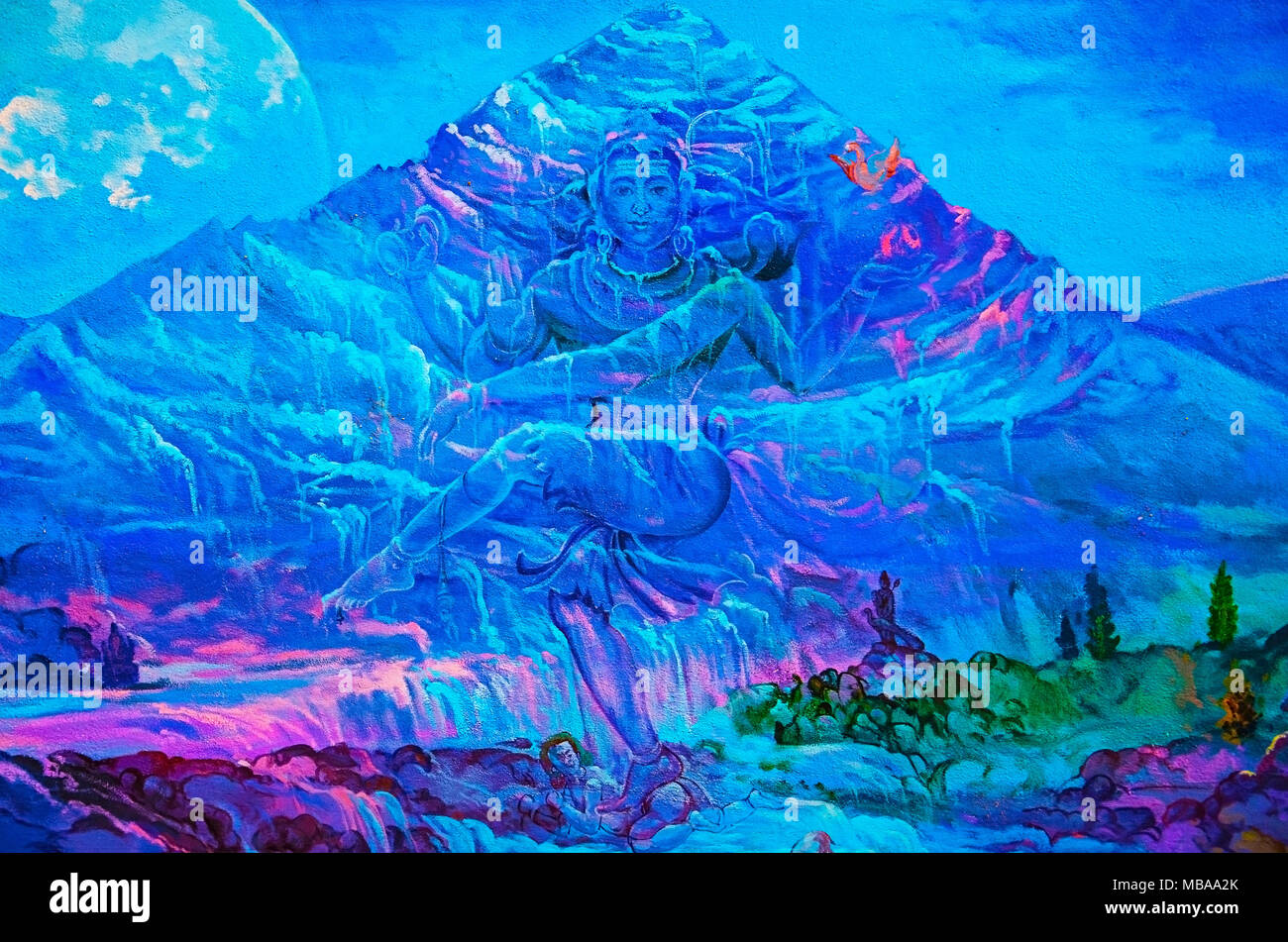 Lord Shiva Paintings Stock Photos & Lord Shiva Paintings Stock