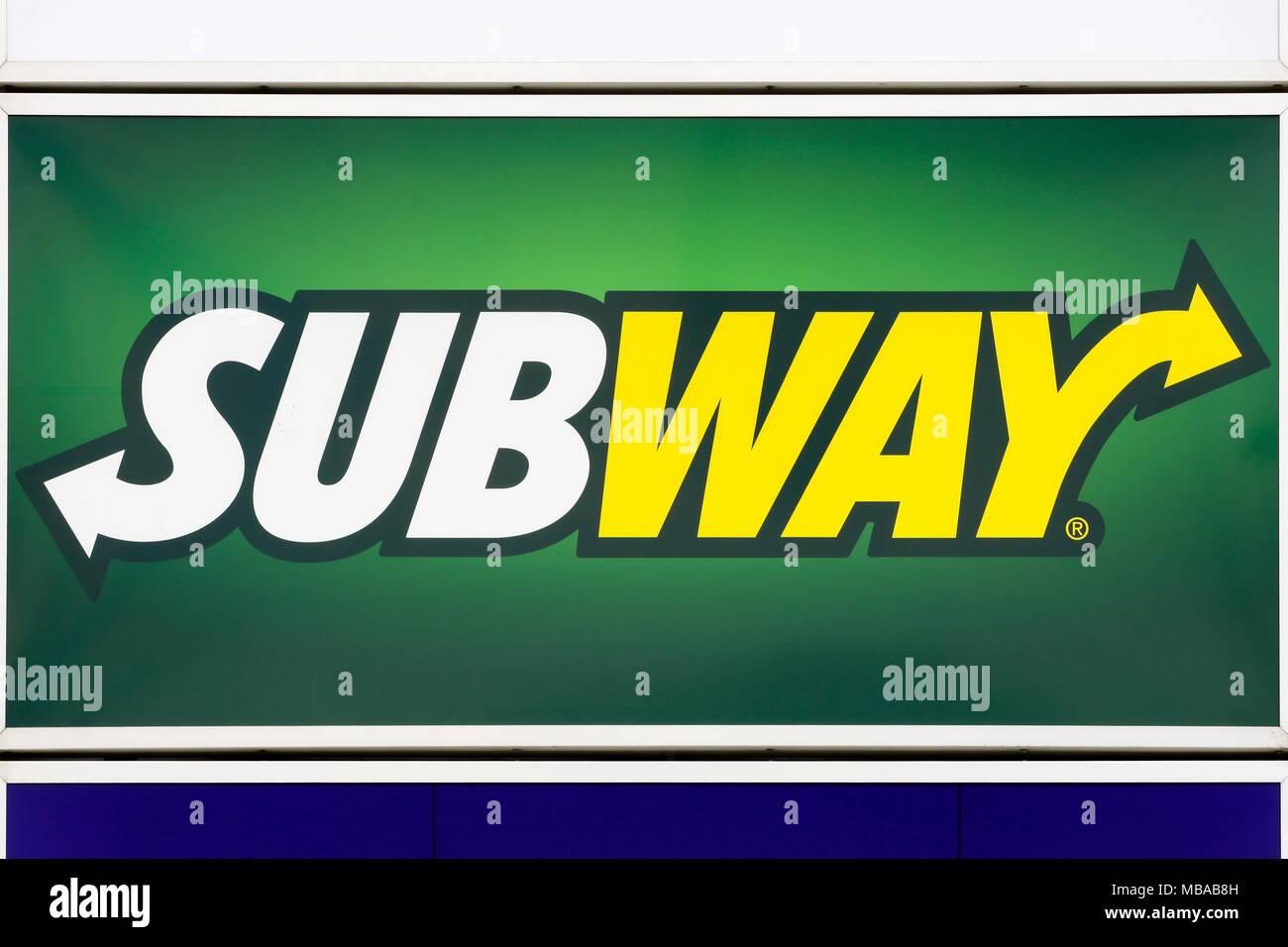 Italian Restaurant Logo With Flag: Subway Logo Stock Photos & Subway Logo Stock Images