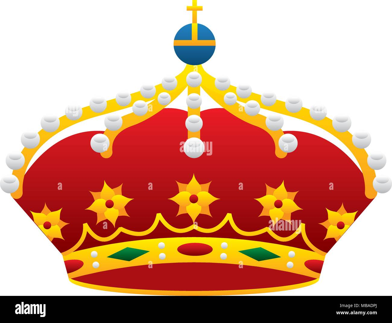 crown monarchy king icon - Stock Vector
