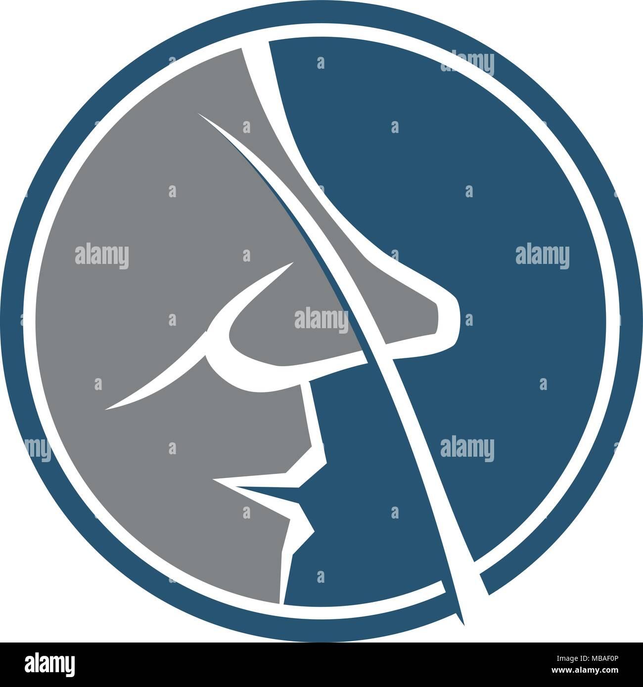 nose care logo design template vector stock vector art